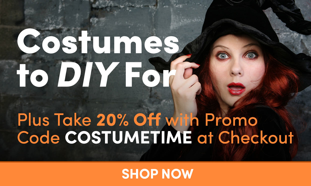 Shop Swap.com for Halloween and Get an Extra 20% Off Find a Costume to DIY For Plus Take 20% Off with Promo Code COSTUMETIME at Checkout SHOP NOW
