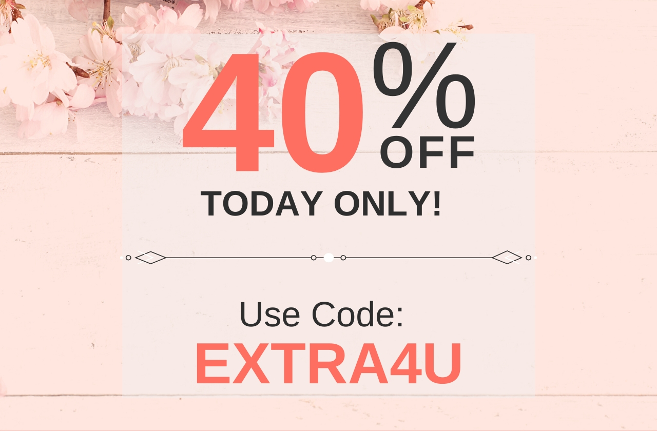 Use Code EXTRA4U For 40% Off!